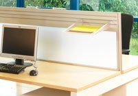 Integrated Screen for Desking